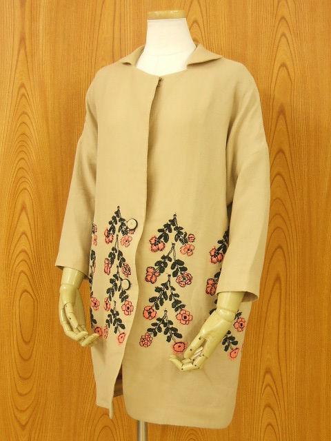 ミナペルホネンの「twins」テキスタイルのコート