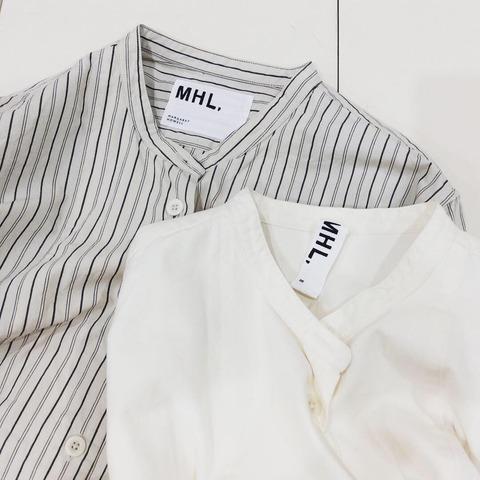 マーガレットハウエルのバンドカラーシャツ